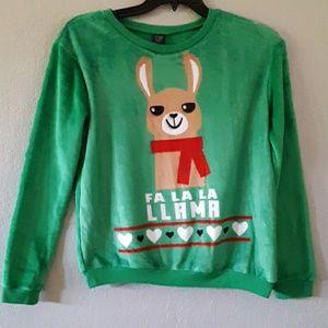 Cold Crush Fa la la llama sweater